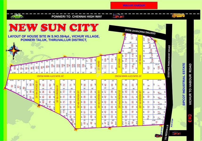 AJE New Sun City - Vichoor - Master Plans