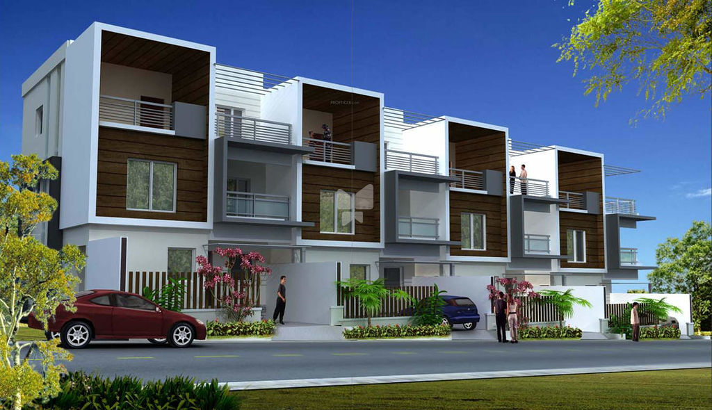 Front Elevation Of Row Houses : Bhk row houses in majestic villas rajendra nagar