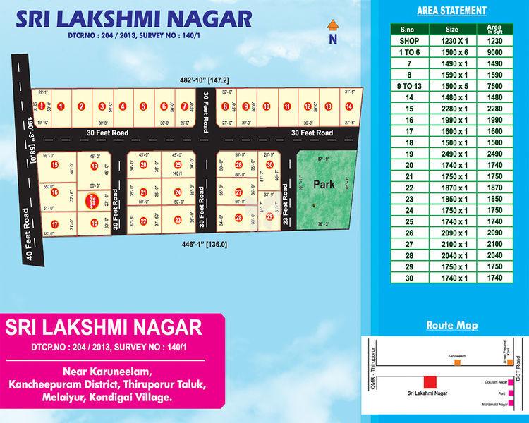 Vamanan Sri Lakshmi Nagar - Master Plans