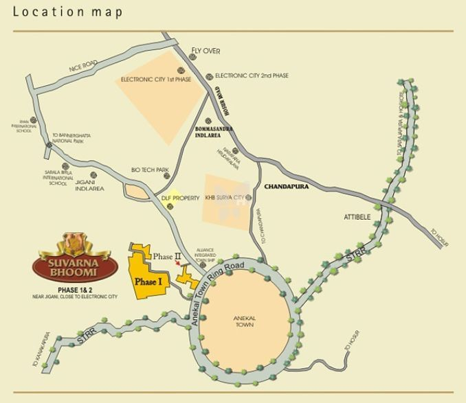 Suvarna Bhoomi Phase I - Location Maps