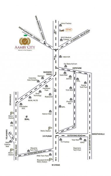 Aamby City - Location Maps