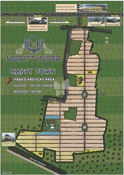 Meritt Infras Happy Town - Master Plans