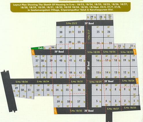 Sri Enterprises Mahalakshmi Nagar  - Master Plan