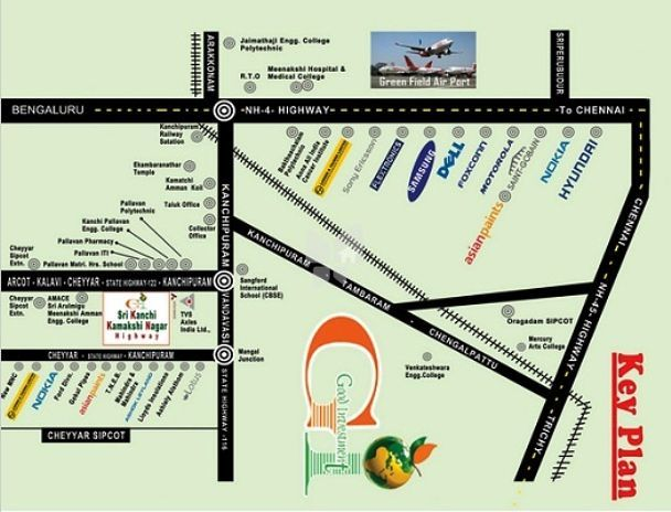 GI Sri Kanchi Kamakshi Nagar - Location Maps
