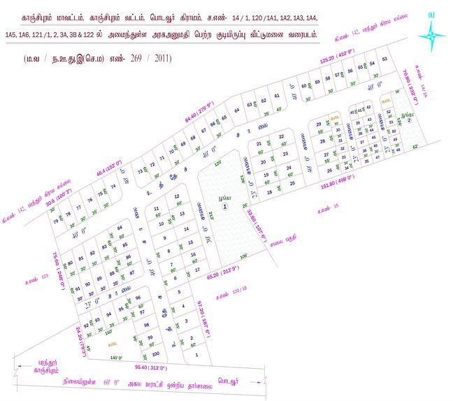 Classic Ekambereshwar Nagar - Master Plan