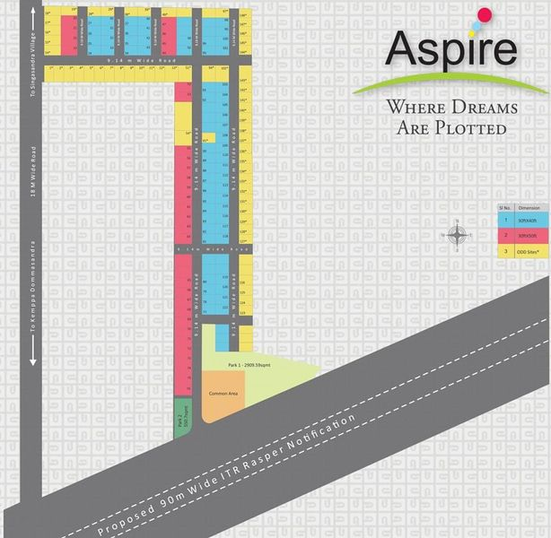 Aashrithaa Aspire - Floor Plan - 2D