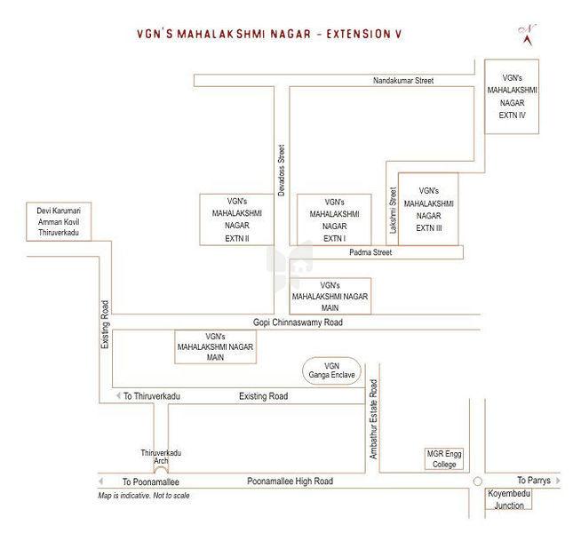 VGN Mahalakshmi Nagar - Location Map