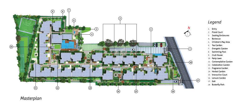 Bharti Myrtle Apartments - Master Plan