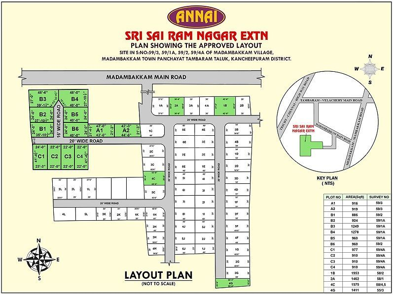 Annai Sri Sai Ram Nagar - Master Plan