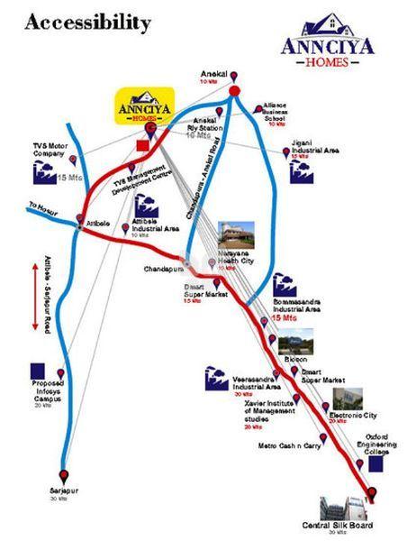 Annciya Padmavathi - Location Map