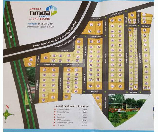 Vijaya Krishna Adibatla County - Master Plans