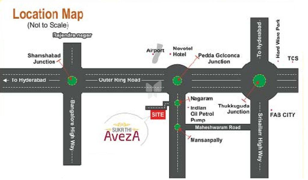 Sukrithi Aveza - Location Map