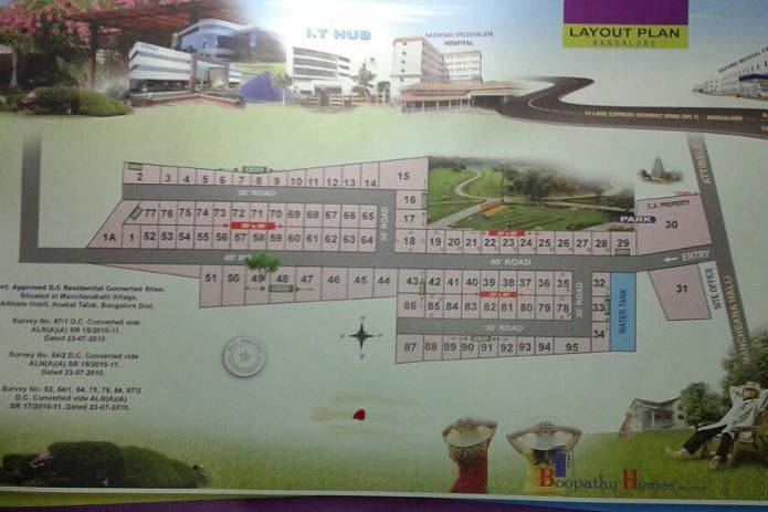 Boopathy Homes Relax City - Master Plan