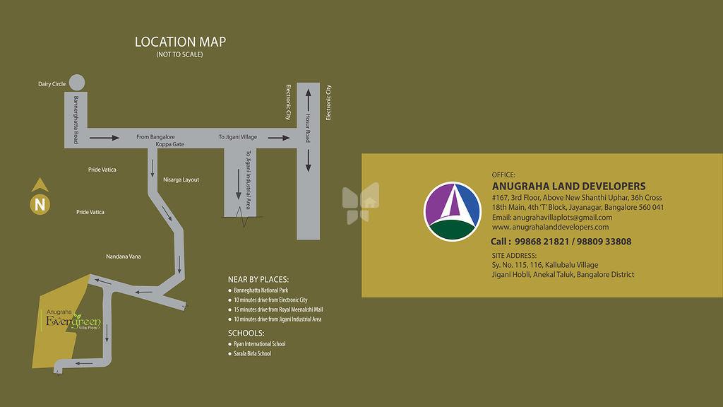 Anugraha Evergreen Villas - Location Map