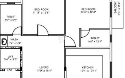 aryana-bells-in-jp-nagar-7th-phase-floor-plan-2d-wjb