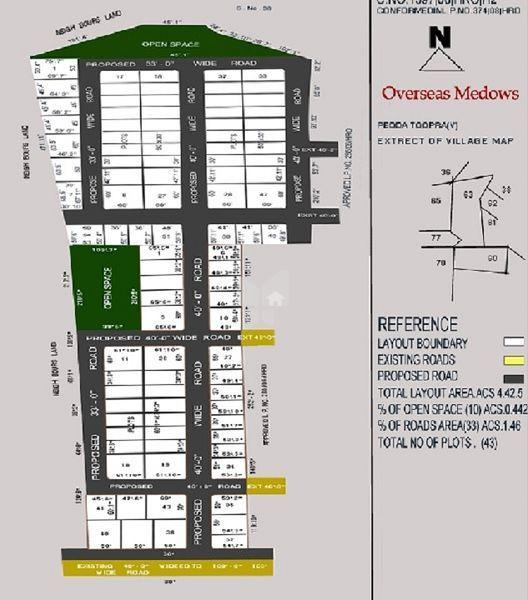 Saicharan Overseas Meadows - Master Plan
