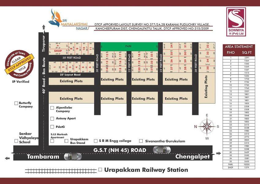 Sri Mahalakshmi Nagar Urappakkam - Master Plans