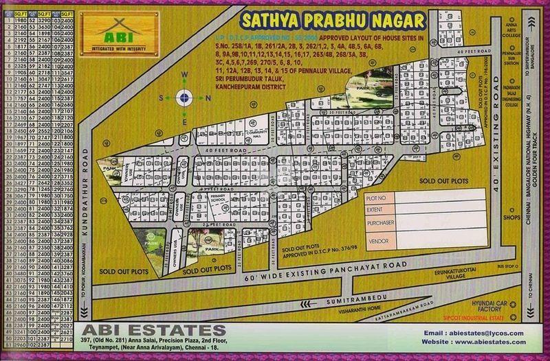 ABI Sathya Prabhu Nagar - Master Plans