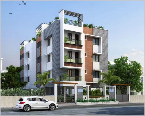 3 Floor Apartment Elevation : Grn s varadha priya in selaiyur chennai roofandfloor