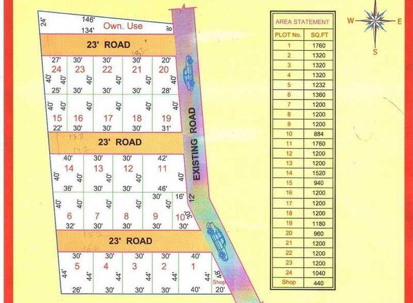 Jemi Ethiraj Nagar Annex - Master Plan