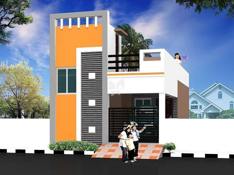 Building Front Elevation Designs Chennai : Lakhs budget house plans in chennai