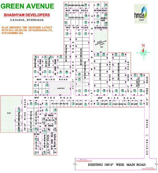 Bhashyam Green Avenue - Master Plan