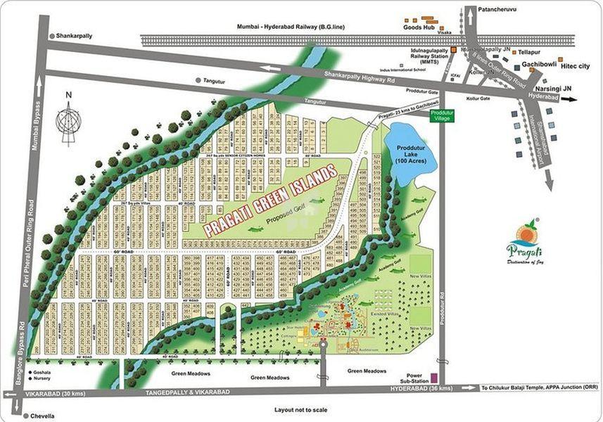 Pragati Green Islands - Master Plan