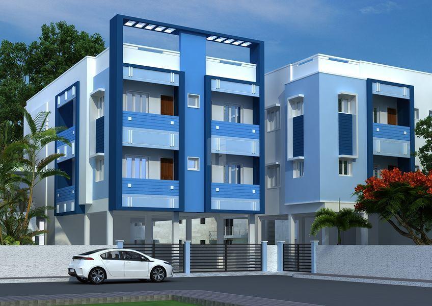 Guru Lakshmi, Saraswathi, Eswari Apartments - Elevation Photo