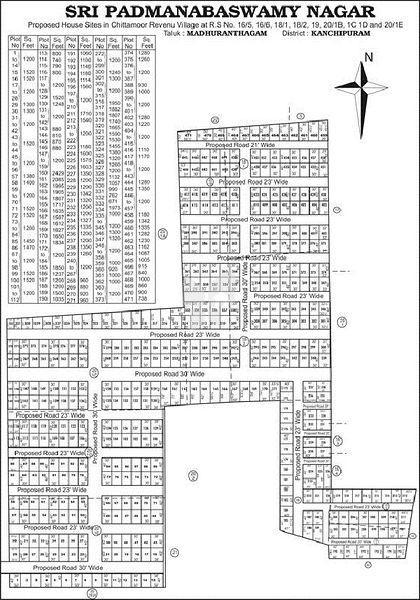 Sky Sri Padmanabaswamy Nagar - Master Plan