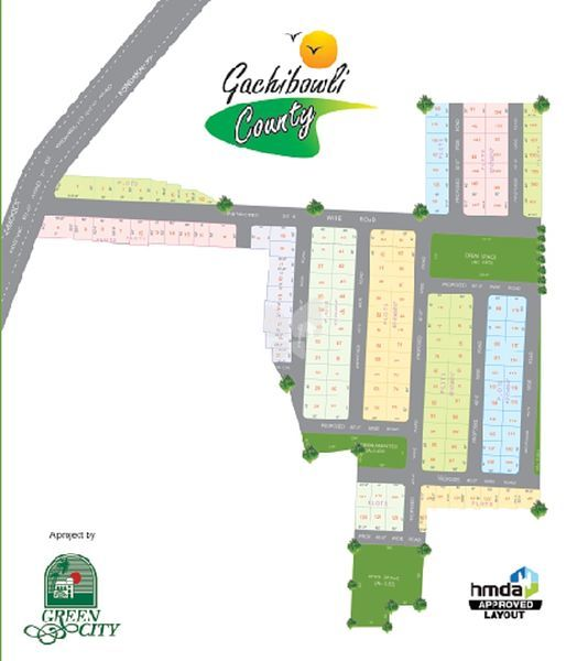 Green City Gachibowli County Phase 1 - Master Plan
