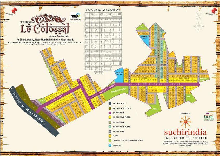 Suchirindia Le Colossal - Master Plans