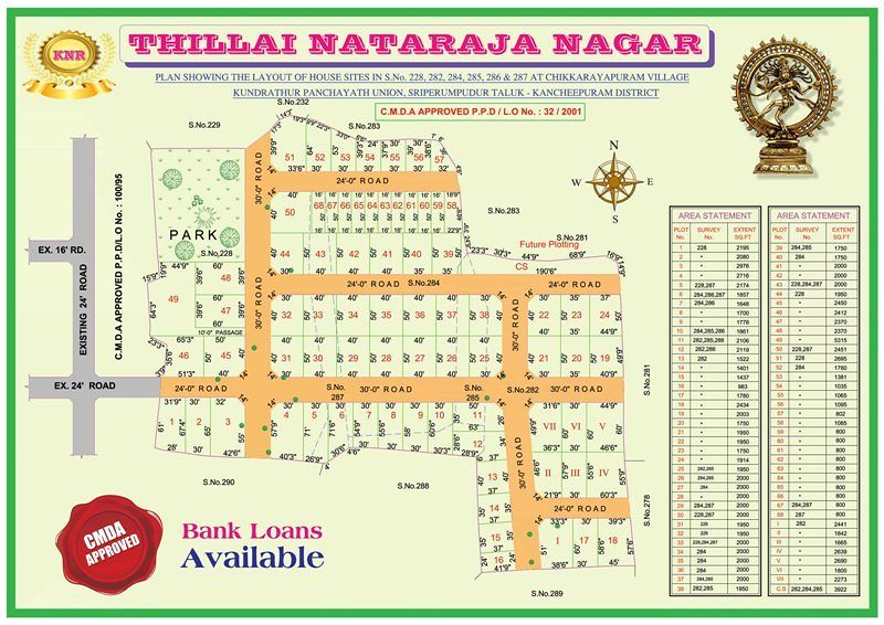 KNR Reality Thillai Nataraja Nagar - Master Plan