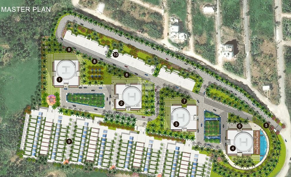 Sri Durga Lake View Residency - Master Plan