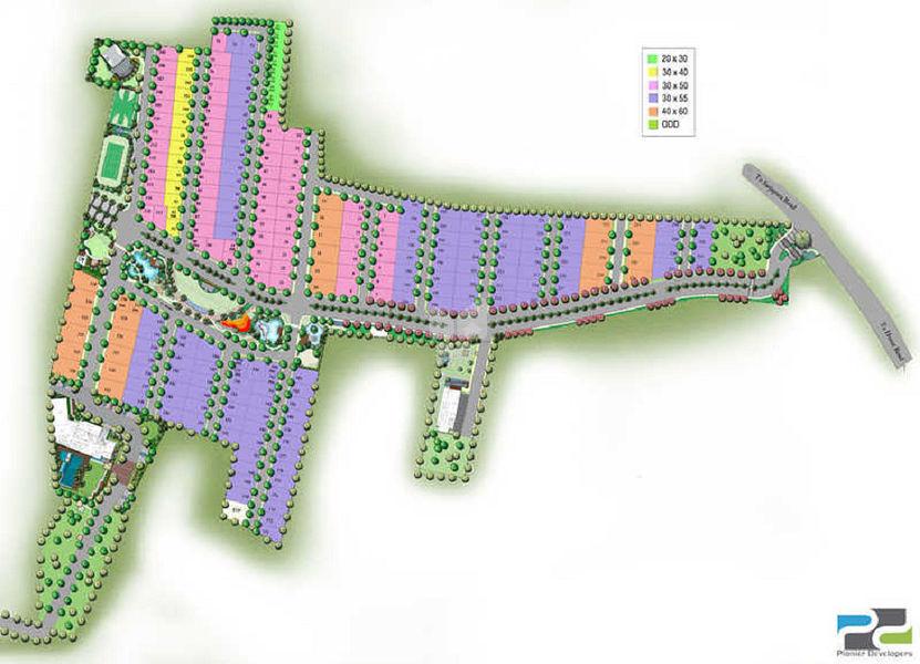 Pionier Lake Dew Residency - Master Plan