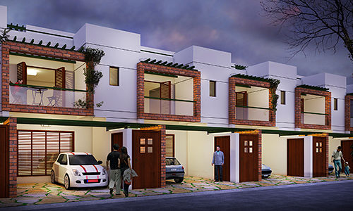 ZED Earth Town Houses - Elevation Photo