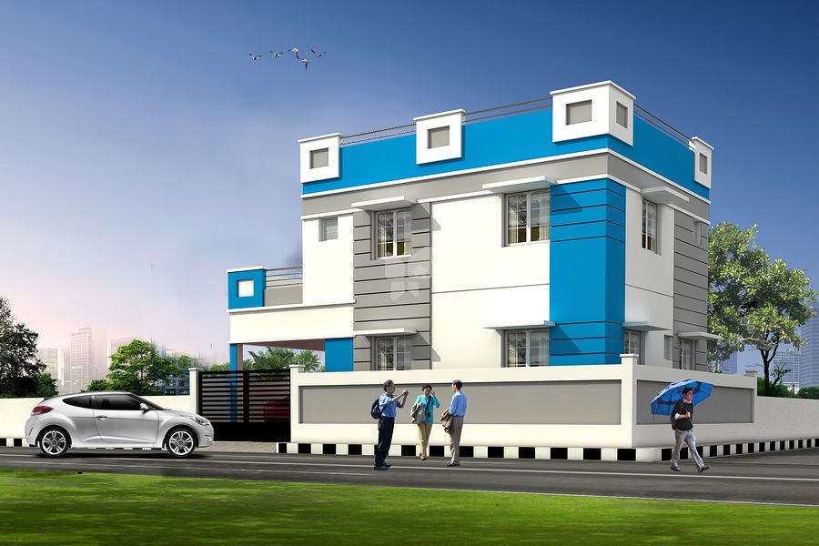 Aarti Villas - Bajanai Koil Street - Elevation Photo