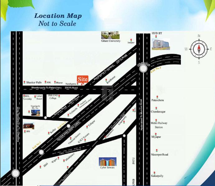 Sukshanti Elite Nest - Location Maps