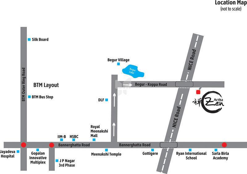 Artha Zen - Location Maps