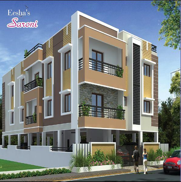 N Building Elevation Colours : Eesha s saroni in puzhuthivakkam chennai roofandfloor