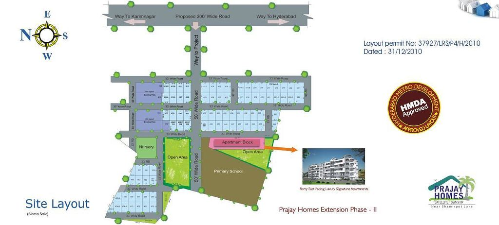 Prajay Homes Extn. Satellite Township - Master Plans