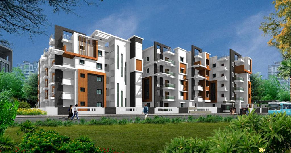 Play School Front Elevation : Sri moonstone park in hoodi bangalore roofandfloor