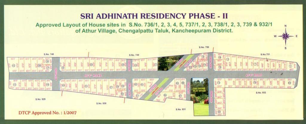 Baskar Realtors Sri Adhinath Residency Phase II - Master Plans