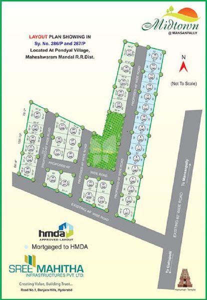 Sree Mahitha Midtown - Master Plan