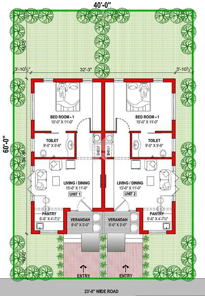 Twin House Floor Plans In India House Design Plans