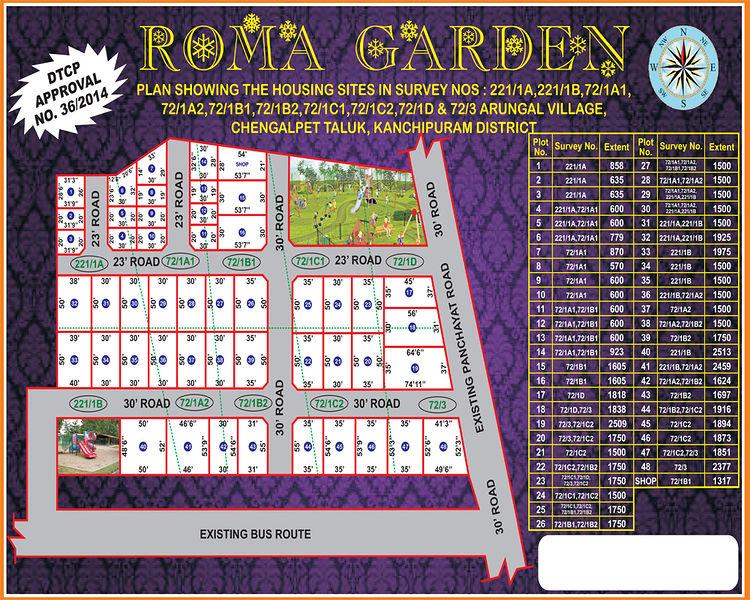 Vamanan Estates Roma Garden - Master Plans