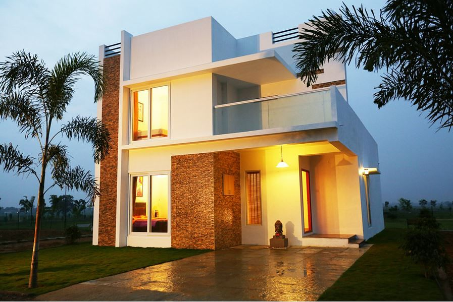 Color homes kanchipattinam plots in kanchipuram chennai for Exterior home design in chennai