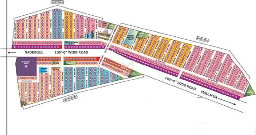 Sree 7 Hills Amr Enclave - Master Plan