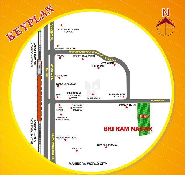 Annai Sri Ram Nagar - Location Maps