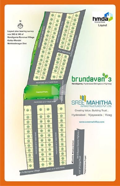 Sree Mahitha Brundavan 3 - Master Plans