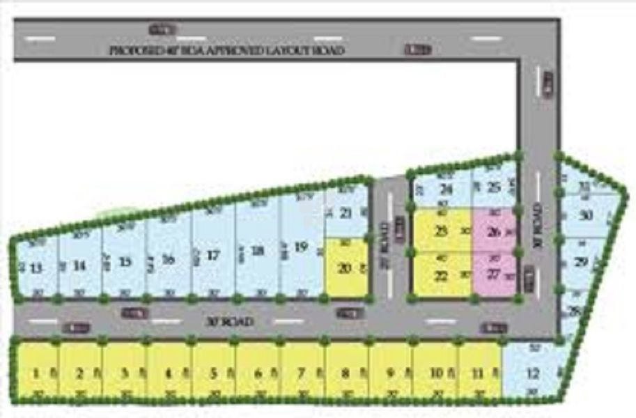 Abhyudaya Green Woods - Master Plan